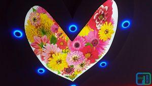 Çiçek Resimli Gergi Tavan Uygulaması