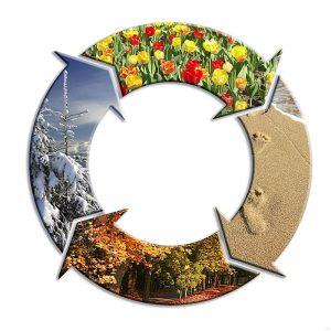 Dört Mevsim Gergi Tavan Resimleri