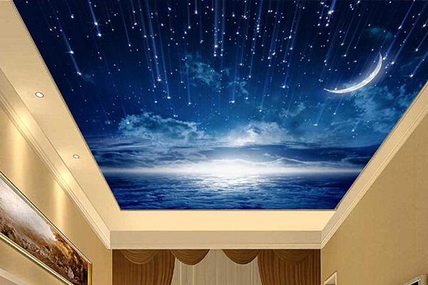 Gergi Tavan Gece Gökyüzü Uygulamaları