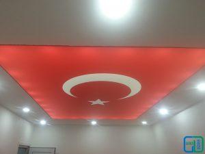 Türk bayrağı gergi tavan