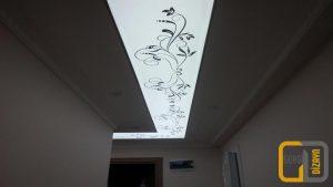 motifli koridor gergi tavan