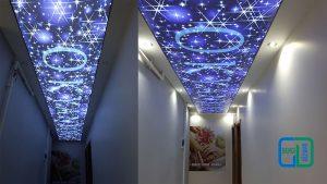 ışıklı koridor gergi tavan